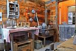 Interiér Hornického muzea v městečku Keno na takzvané Stříbrné stezce (Silver Trail), která byla kdysi prospívající těžební oblast, dnes tam celoročně žije pouhých 15 obyvatel.