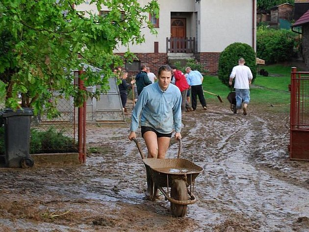 Prudký déšť vyplavil Úlice na Plzeňsku.