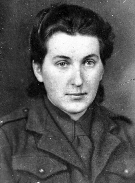Věra Suchopárová, spojařka 1. brigády.
