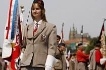 Průvodem Prahou začal 1. července XV. všesokolský slet.