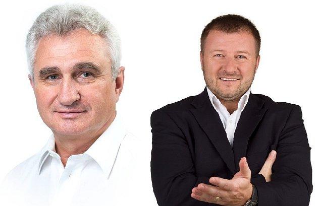 Obvod 15Pelhřimov, Milan Štěch (ČSSD) vlevo, Jaroslav Chalupský (Svobodní)