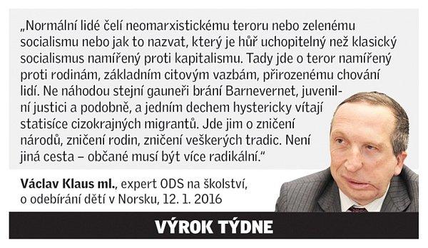 Citát Václava Klause mladšího
