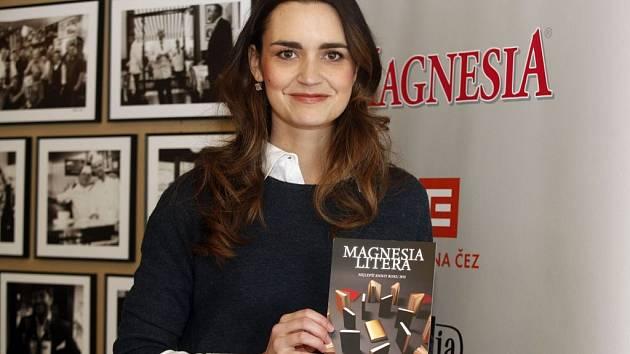 Na tiskové konferenci k letošní Magnesii Liteře: Daniela Písařovicová