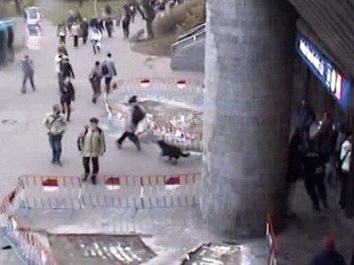 Mladík u hlavního nádraží surově zmlátil psa a mrštil jím o skleněnou výplň