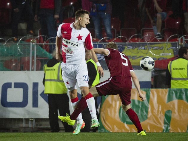 Milan Škoda v derby proti Spartě