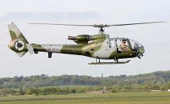 Helikoptéra typu Aérospatiale Gazelles, ilustrační foto.