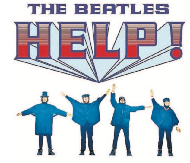 POMOC! Původně chtěli Beatles na obalu alba signalizovat slovo HELP. Pak se jim to ale trochu vymklo zrukou…