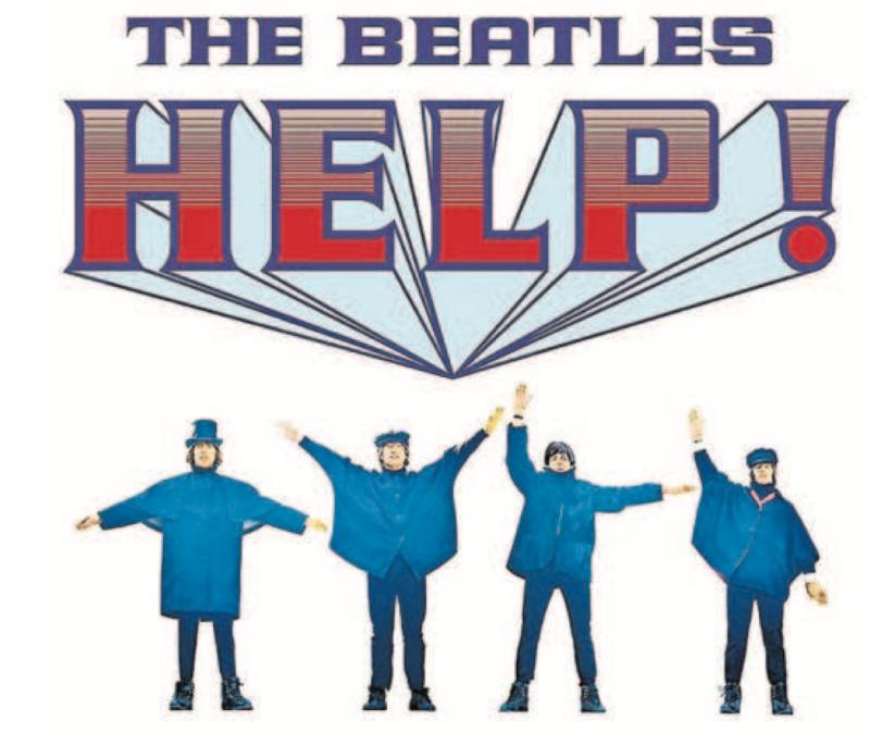 POMOC! Původně chtěli Beatles na obalu alba signalizovat slovo HELP. Pak se jim to ale trochu vymklo z rukou...