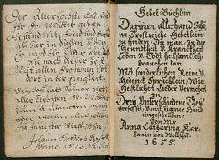 Motlitební kniha z roku 1655