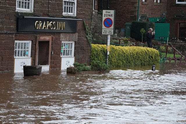Bouře Ciara v Británii