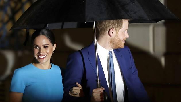 Britský princ Harry a vévodkyně Meghan