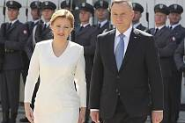 Slovenská prezidentka Zuzana Čaputová a její polský protějšek Andrzej Duda