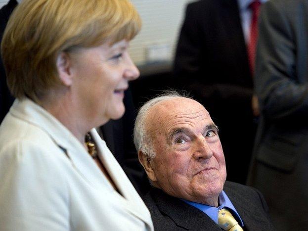 Angela Merkelová a Helmut Kohl