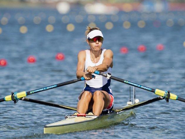 Skifařka Miroslava Topinková Knapková na olympijských hrách v Riu.