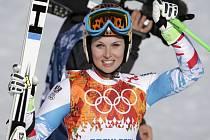 Anna Fenningerová ukořistila zlato v superobřím slalomu na olympijských hrách v Soči.
