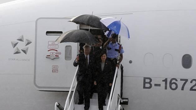 Tchajwanská prezidentka Cchaj Jing-wen navštívila USA.