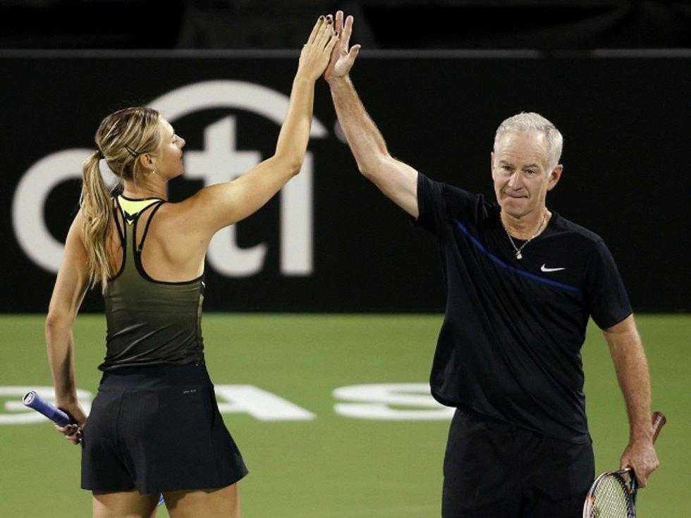 Maria Šarapovová a John McEnroe.
