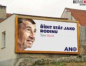 Předvolební kampaň hnutí Ano v novém pojetí.