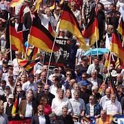 Demonstrace AfD v Berlíně