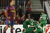 Fotbalisté Kazaně slaví, přímo na Nou Campu porazili v Lize mistrů slavnou Barcelonu.