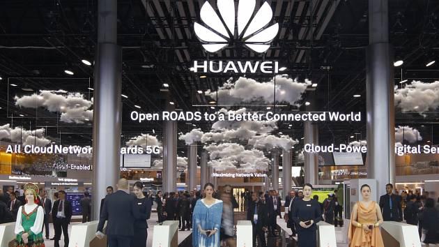 Expozice Huawei na veletrhu MWC 2017