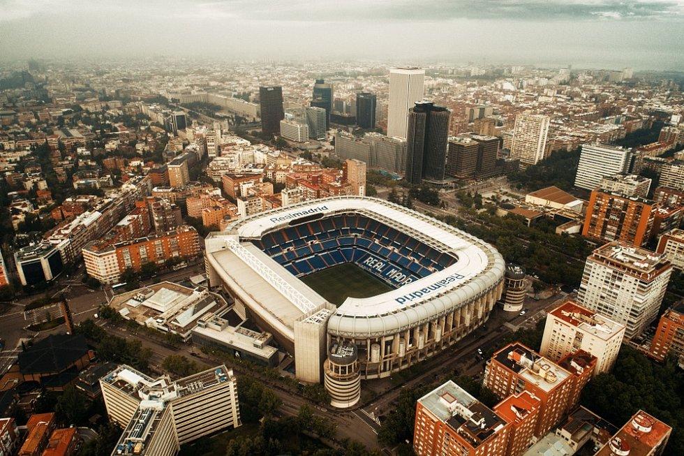 Stadion Santiaga Bernabéu ve španělském Madridu…