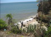 Madagaskarské pobřeží, na němž byly nalezeny fosilní žraločí zuby