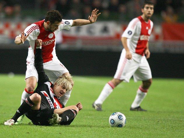 Fotbalisté Slavie uzavřeli své účinkování v pohárové Evropě zápasem v Amsterdamu.