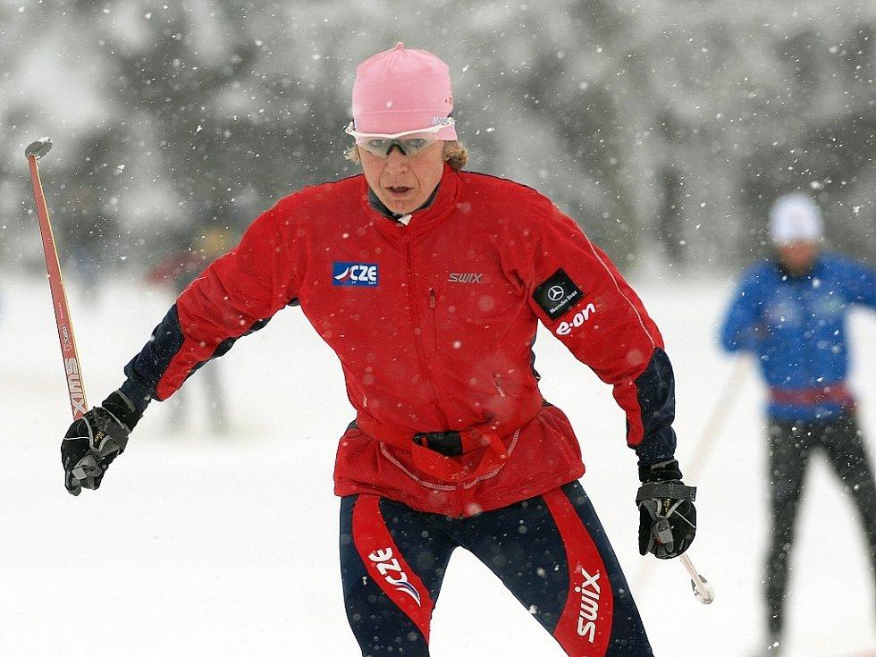 Kateřina Neumannová na lyžích v Ramsau