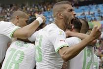 Alžírsko a jeho radost z jedné z branek do korejské sítě