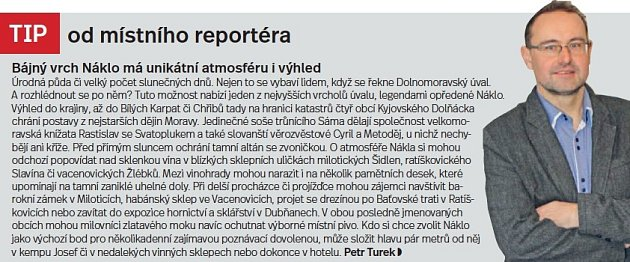Slovácko a Bílé Karpaty, tip reportéra