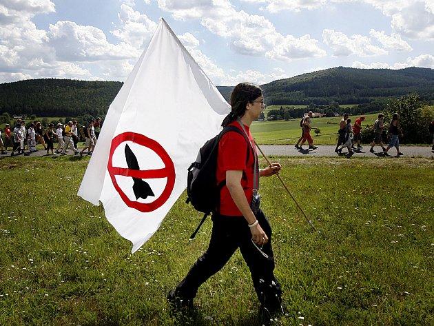 NE ZÁKLADNĚ. Radar se obyvatelům Brd nezamlouvá. Protestovali proti němu už několikrát.