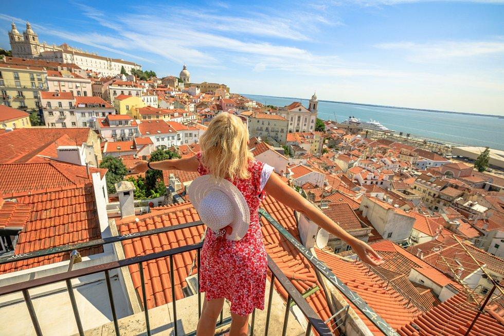 Výhled na Lisabon v Portugalsku