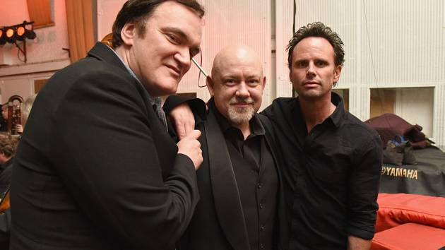 Režisér Quentin Tarantino, trumpetista Jan Hasenöhrl a herec Walton Goggnis.