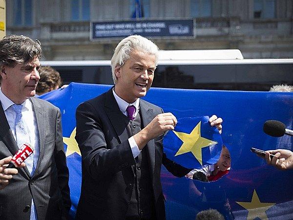 Předseda PVV Geert Wilders.