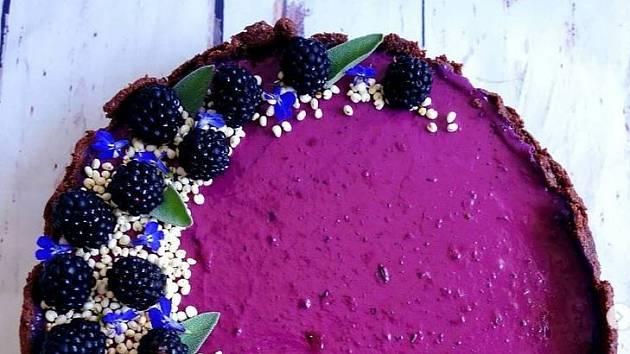 Borůvkový dort s tvarohem