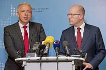 Milan Chovanec a Bohuslav Sobotka