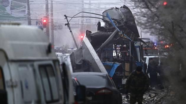 Výbuch v trolejbusu v ruském městě Volgograd.