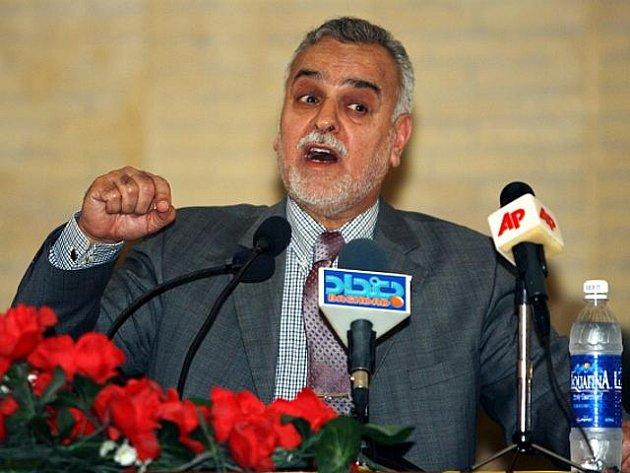 Irácký sunnitský viceprezident Tárik Hášimí.