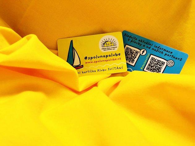 Věrnostní kartička klubu Svítání. Čerpejte výhody - pomáhejte dobré věci.