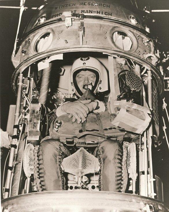 Joseph Kittinger v gondole