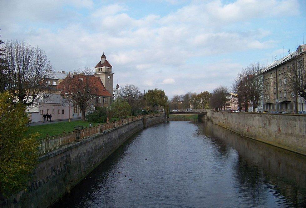 Řeka Morava v Olomouci