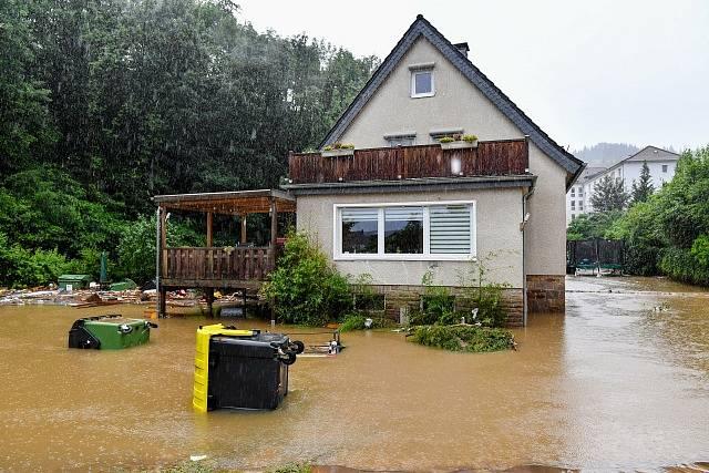 Povodně v Německu.