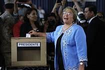Prezidentská kandidátka Michelle Bacheletová.