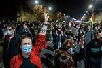 Demonstrace v Polsku proti rozhodnutí Ústavního soudu o potratech