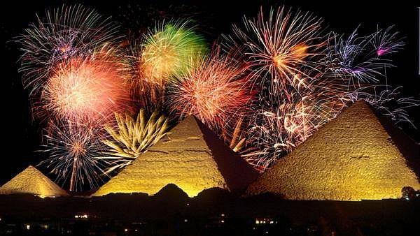 Novoroční oslavy v Káhiře