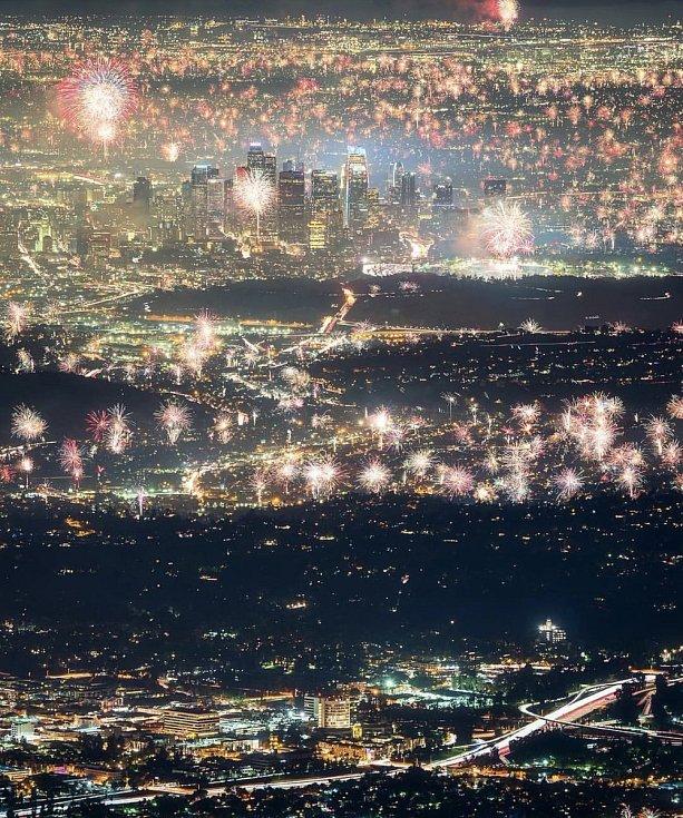 Novoroční oslavy v Los Angeles