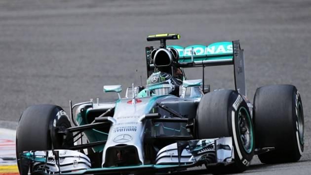 Nico Rosberg v kvalifikaci na Velkou cenu Belgie.