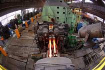 Pohled do válcovny společnosti Liberty Steel v Ostravě