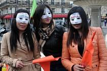 Pařížské prostitutky protestovaly proti návrhu zákona o pokutování jejich klientů.